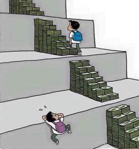 Menggambarkan tentang pendidikan yang mahal.