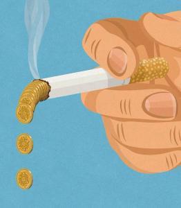 Merokok itu membakar uang